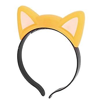 Oído eDealMax Partido de Cosplay del gato que destella de Luces Pelo de la Venda Hairband