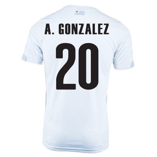 空対角線アプトPuma A. Gonzales #20 Uruguay Away Jersey World Cup 2014/サッカーユニフォーム ウルグアイ アウェイ用 ワールドサッカー2014 背番号20 アルバロ?ゴンサレス