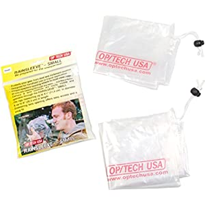 OP/TECH USA 9001022 Rainsleeve - Small, 2 Pack (Clear)