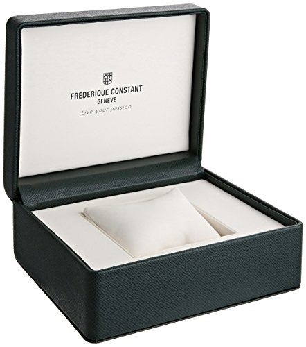 Frederique Constant Men's 'Slim Line' Silver Dial Black Leather Strap Stainless Steel Swiss Automatic Watch  FC-306MC4S36 by Frederique Constant (Image #3)