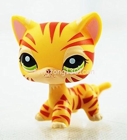 Rare Orange yellow Tiger Cat Kitten Kitty Hasbro Littlest Pet Shop LPS Toy #1451 - Littlest Angel Doll