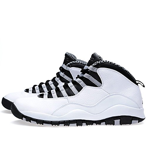 Nike Air Jordan Retro 10 310805-103 (usm 8 Til 9,5) Hvit / Svart-lys Stålgrå-varsity Red
