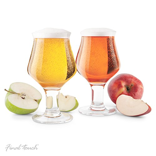 Final Touch Hard Cider Glass, Set of 2