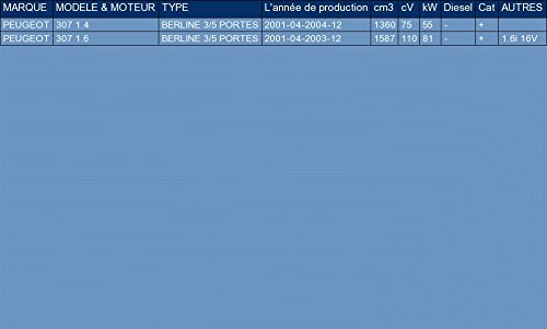 ETS-EXHAUST 1421 Silenziatore marmitta Posteriore pour 307 1.4 1.6 HATCHBACK 75//110hp 2001-2004