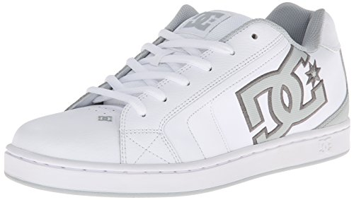DC Shoes Net M Shoe Bk5 - Zapatillas de Skateboarding de otras pieles hombre Blanco (White/High Rise)