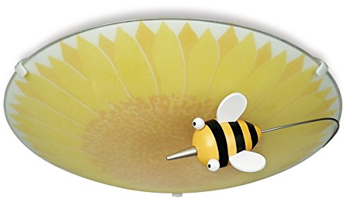 - Philips 30111/55/48 KidsPlace Floral and Bumble Bee Ceiling Light, Multi-colored
