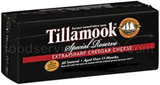 product image for Tillamook Special Reserve Extra Sharp Cheddar Cheese Loaf, 1 Pound -- 12 per case.