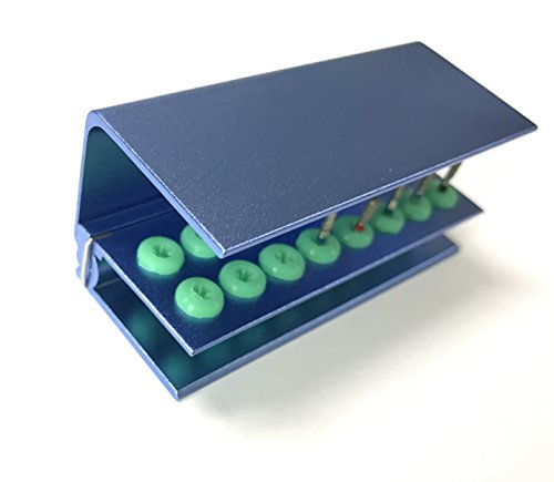 Dental Burs block Stand Holder With Sillicone 16holes