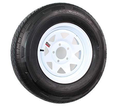 - Sterling ST205/75R14 LRC Radial Boat Trailer Tire & Wheel White Spoke 5-4.5