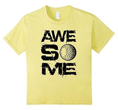 unisex-child Awesome Golf Golfer T-shirt Boys Girls Youth Child Tee Ball