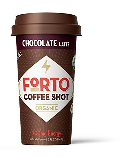 - FORTO Coffee Shots - 200mg Caffeine, Chocolate Latte, Ready-to-Drink on the go, High Energy Cold Brew Coffee - Fast Coffee Energy Boost, Sample