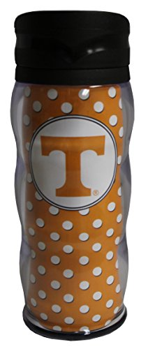 Tumbler Curve (Whirley NCAA Tennessee Volunteers 20oz Polka Dot Curve Tumbler)