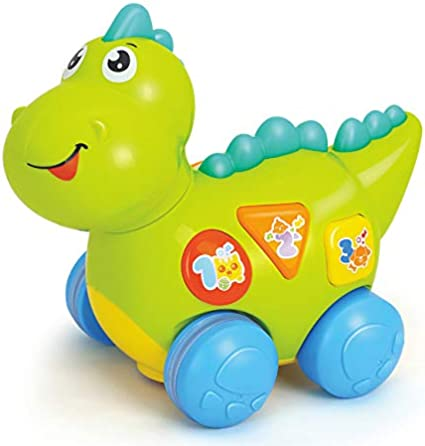 Teaching YoSpot Talking Dinosaur Toy with Lights and Sounds for Kids Walking /& Fun Action Activity Learning