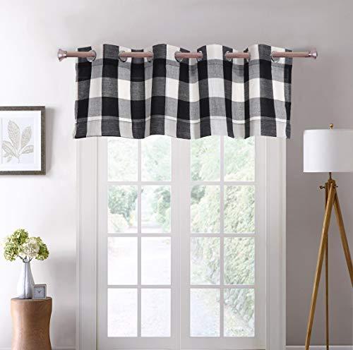 (Decotex 1 Piece Plaid Buffalo Checkered Grommet Top Window Curtain Drape Panel or Valance (53