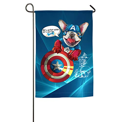 Shenigon Not A Perfect Soldier But A Super Hero Bulldog Home Family Party Flag 100 Hipster Welcomes The Banner Garden Flags ()