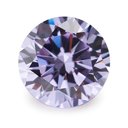 500pcs Size 1.25mm 5A Round Machine Cut Lavender Color Cubic Zirconia Stone Loose CZ Stones (1.25mm 500pcs)