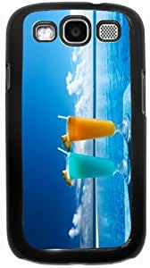 Rikki KnightTM cocktails by pool - Black Hard Rubber TPU Case Cover for Samsung? Galaxy i9300 Galaxy S3