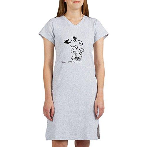 CafePress - Snoopy- Dancing Dog - Women's Nightshirt, Soft Long Pajama Shirt, Cotton PJs / Pyjamas - Dog Nightshirt