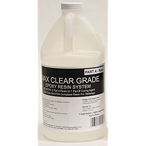 MAX CLEAR GRADE Epoxy Resin System - 3/4 Gallon Kit - Food