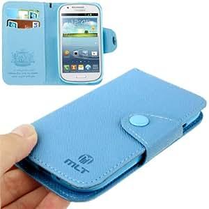 """De cuero protector de Galaxy Express cubierta de la caja I8730 (PU ) Blue """" Efecto entrecruzado """""""