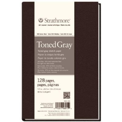 5 1/2'' x 8 1/2'' Sewn Bound Toned Gray Sketch Art Journal (Product Catalog: Paper Media, Canvas & Surfaces) by Strathmore
