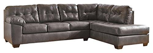 (Ashley Furniture Signature Design - Alliston 2-Piece Sectional - Left Arm Facing Sofa & Right Arm Facing Corner Chaise - Gray)
