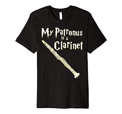 My Patronus Is A Clarinet Harry Fan Clarinet Player Gift Premium T-Shirt