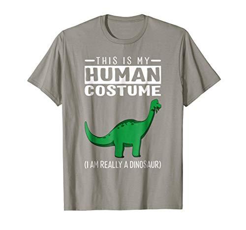 My Human Costume I'm A Dinosaur Brachiosaurus Funny T Shirt -