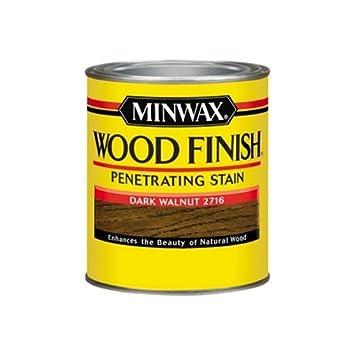Minwax 70012444 Wood Finish Penetrating Stain Quart Dark Walnut