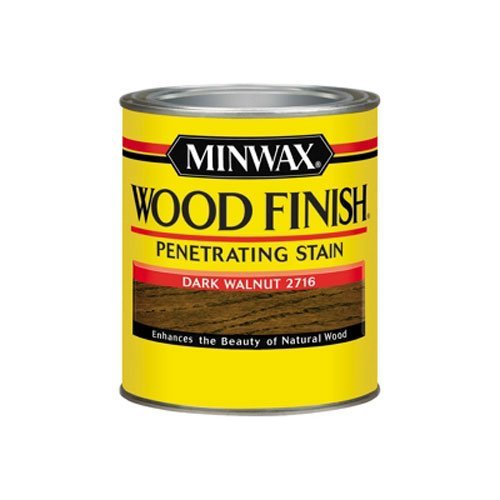 (Minwax 70012444 Wood Finish Penetrating  Stain, quart, Dark Walnut)