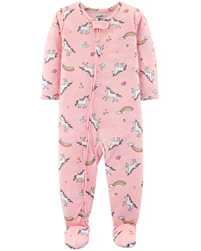 Carter's Baby Girls' 1-Piece Snug Fit Cotton Pajamas (4T, Unicorn Print)