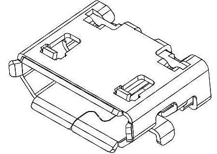 Amazon Com Usb Connectors 5p Micro Usb Type B Rcpt W Rear Pegs