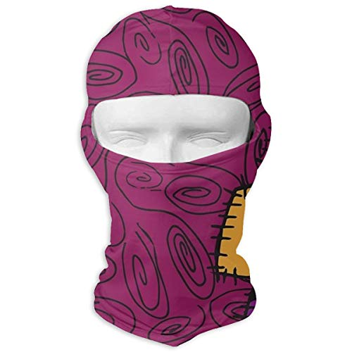 JJKYL Nightmare Before Christmas Sally Pattern Full Face Mask Hood Sunscreen Mask Cycling Hunting Hiking Skiing Mask Dual Layer Cold for Men and -