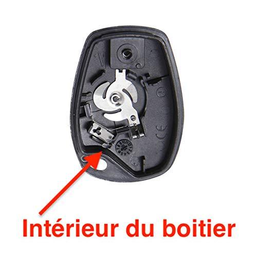 Boitier Cl/é Plip Coque de T/él/écommande DACIA Lodgy Duster Logan Dokker Sandero