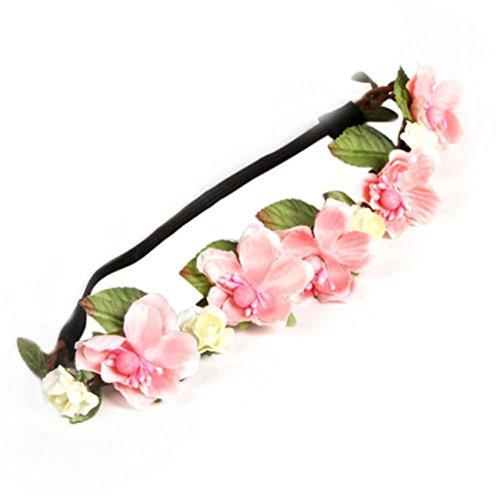 Trenton Women Bohemian Floral Flower Rose Hair Wreaths Headband Hair Band Party Wedding