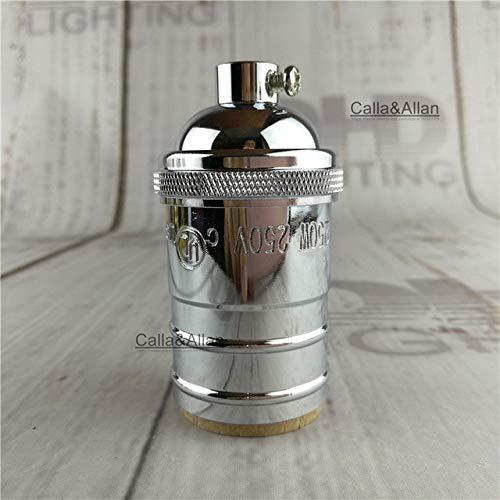 Kamas Matt black bronze 100% brass quality Lamp Holder UL E27 DIY vintage rose Chandelier Lighting Base M10 copper holder light socket - (Color: LH6305, Base Type: 2units)