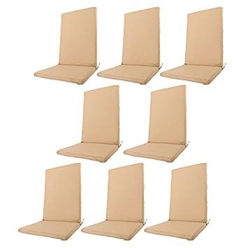 Edenjardi Pack 8 Cojines textilene para sillas de Exterior ...