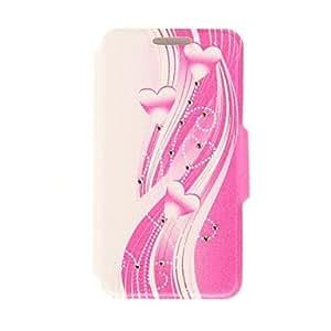 ZCL- kinston amor de cinta patrón de pasta de diamante de cuero de la PU caso de cuerpo completo con soporte para el iphone 5 / 5s