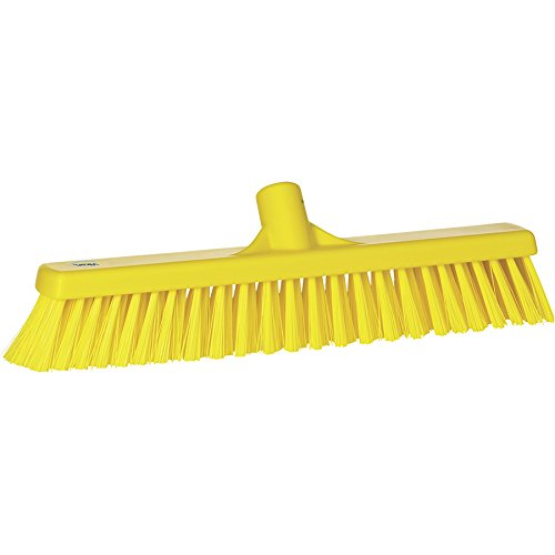 VIKAN Yellow Polyester Fine Sweeping Combo Floor Broom