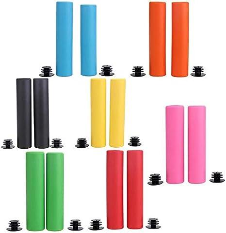 Farbe : Gelb NO LOGO X-Baofu Ultraleichter Silikon MTB Lenker Anti-Rutsch-Schaumstoff-Griffe Fahrradgriffe Fahrrad Ergonomisches Zubeh/ör mit hoher Dichte Fahrradteile 32g