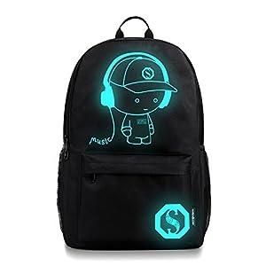 TUDUZ Cool Boys School Backpack Luminous School Bag Music ...