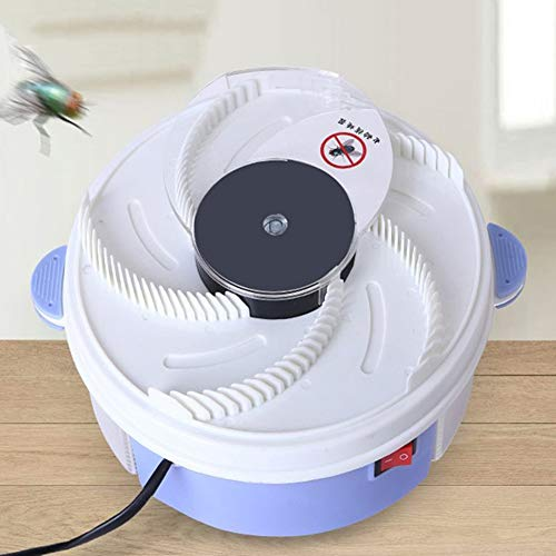 dezirZJjx Electric Fly Trap Device,Automatic Flycatcher, Insect Flies Trap Mute Electric for Indoor Outdoor Use