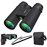 Kylietech 12X42 Binoculars for Adults With Tripod Mount,Professional HD Compact Waterproof and Fogproof