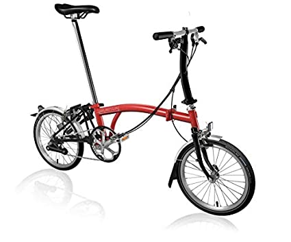 Buy Brompton Uk S6lu Rd Bk Sp6 Bike Red And Black Online At Low Prices In India Amazon In