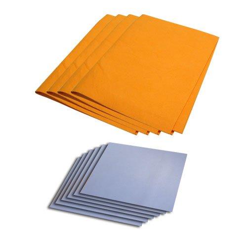 Chamois Value Pack (10 pieces): 4 Large Orange (19