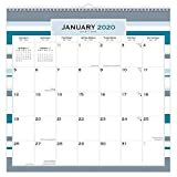 Seaside Currents 2020 12 x 12 Inch Monthly Square WireO Calendar, Stationery Planning