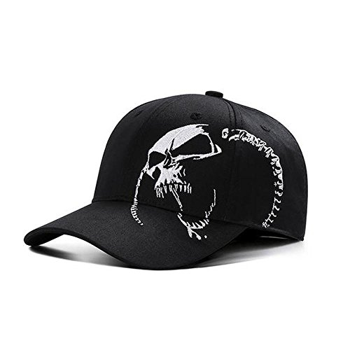 EagleStore Baseball Cap Skull Embroidery Snapback Hats for Men Women Sports Hats BCA009