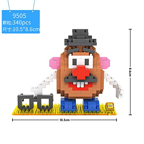 (LOZ Mr.Potato Head Toy Story Diamond Mini Building Micro Block Brick Headz Baseplate DIY Figurine Bobble Head Disney Developmental Toys Model Comics Cartoon Animation Figure Chistmas/Birthday)
