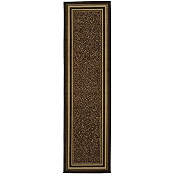 Ottomanson Ottohome Collection Contemporary Bordered Design Non-Skid Rubber Backing Hallway Runner Rug, 2'7