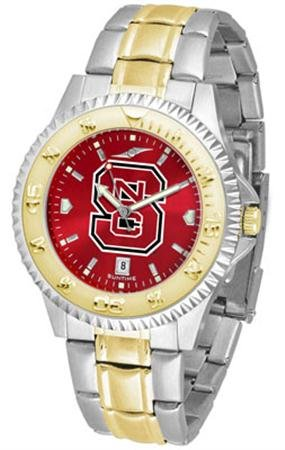 (Linkswalker Mens North Carolina State Wolfpack Two Tone Anochrome Watch)